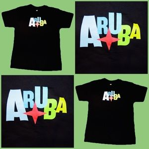 ARUBA Men's Medium Black T Shirt Summer Beach Sun